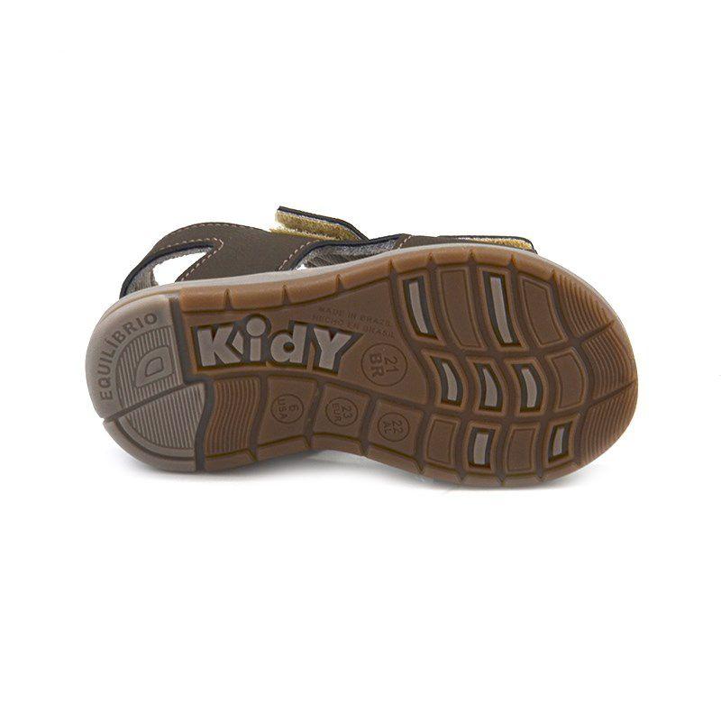Sandalia Kidy Baby Equilibrio Oliva Castor-0010856
