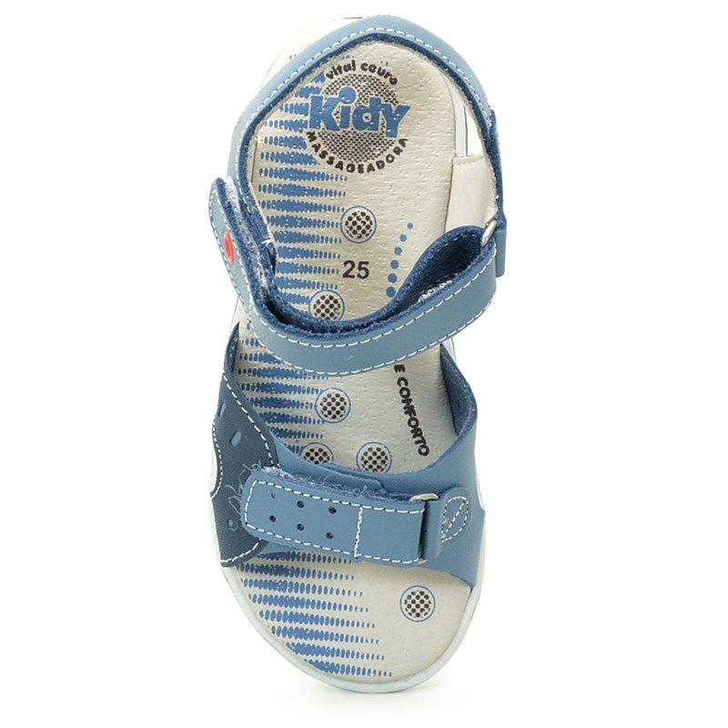 Sandalia Kidy Flex Azul Jeans Marinho Laranja-0690217