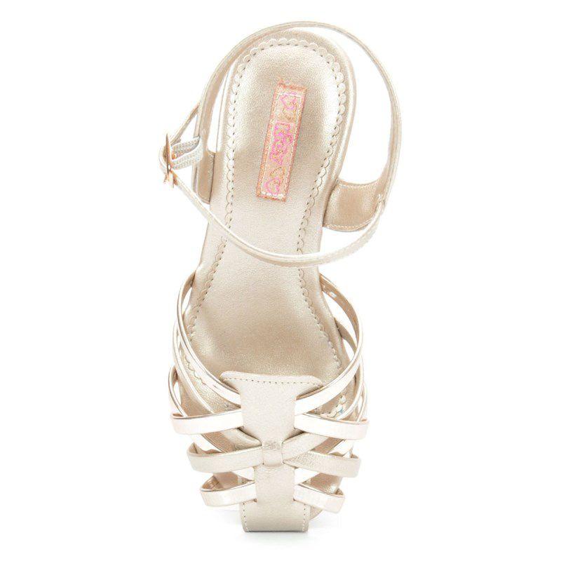 Sandalia Kidy Infantil Amar E Fashion Ouro-1440055