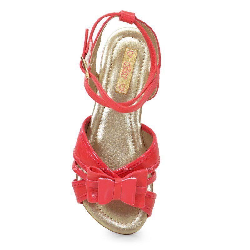 Sandalia Kidy Infantil Anabela Cereja-1440019