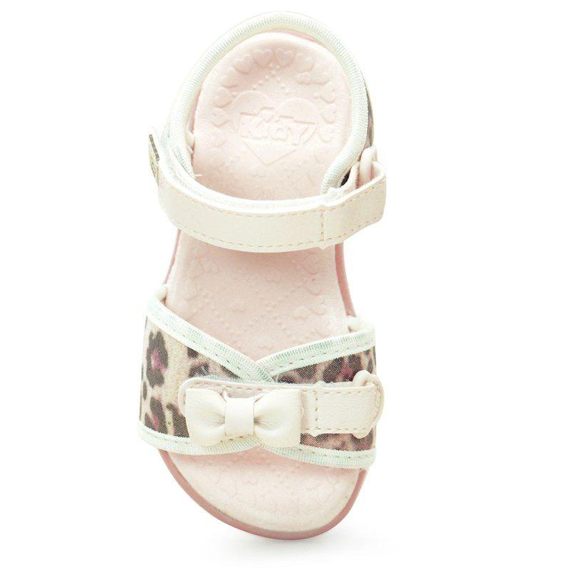 Sandalia Kidy Infantil Baby Equilibrio Marfim Marrom-0020554