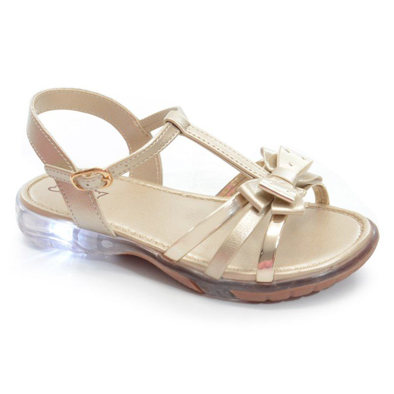 Sandalia Kidy Light Infantil Meninas Ouro-1630043