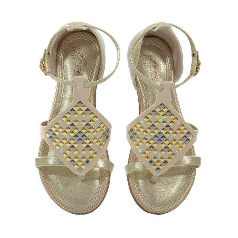Sandalia Kidy Love Infantil Meninas Ouro-1440130