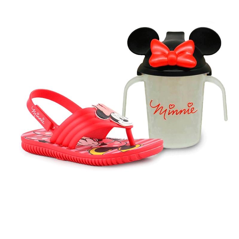 Sandalia Grendene Mickey E Minnie Infantil Meninas Vermelho Vermelho-22165