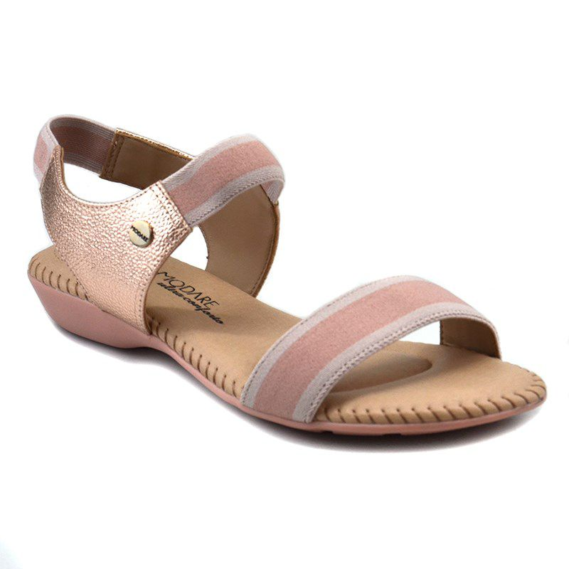 Sandalia Rasteira Modare Rosa Creme-7025334