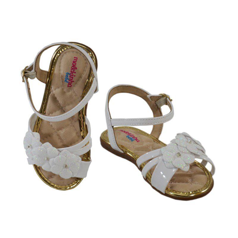 Sandalia Rasteira Molekinha Infantil Meninas Branco Furta Cor Branco-2112133