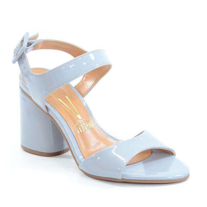 Sandalia Vizzano Salto Alto Verniz Jeans-6366101