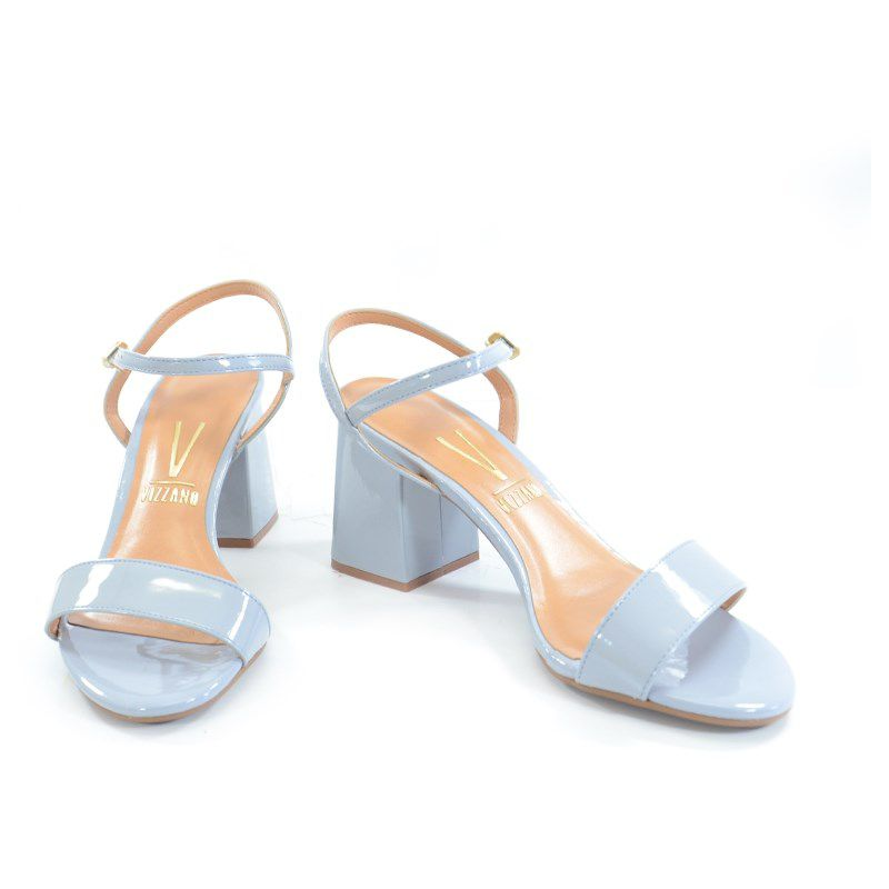 Sandalia Vizzano Salto Medio Verniz Jeans-6364100