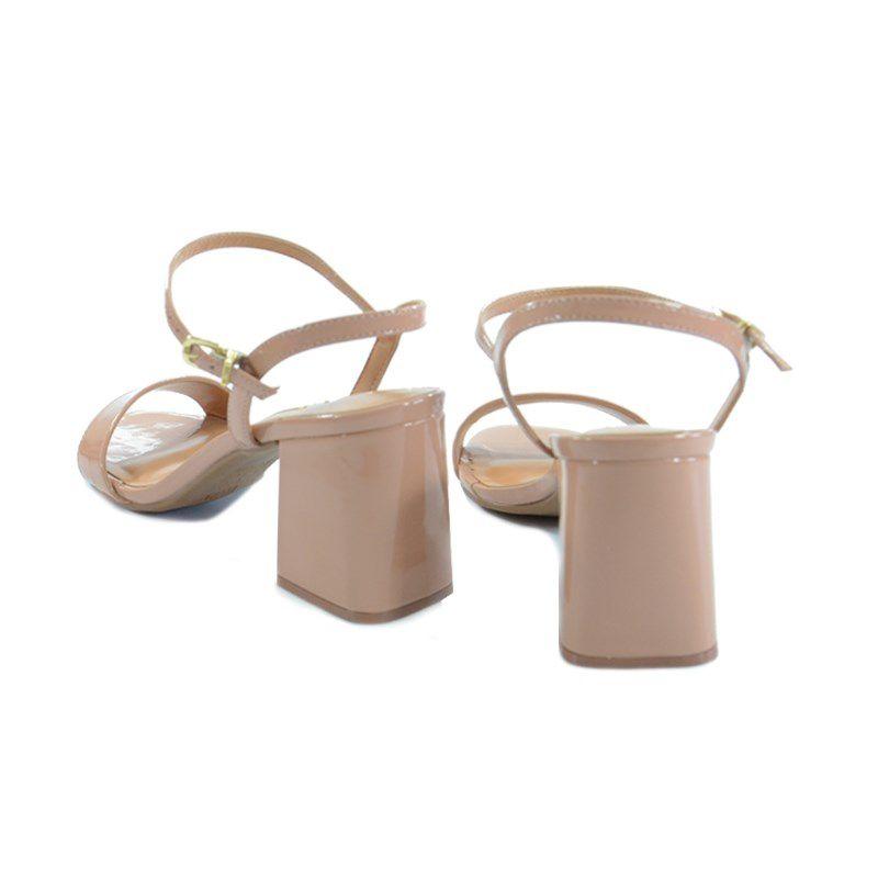 Sandalia Vizzano Salto Medio Verniz Nude-6364100