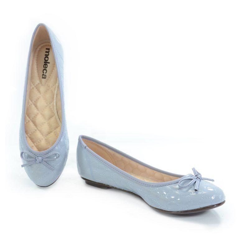 Sapatilha Moleca Verniz Jeans - 50271111