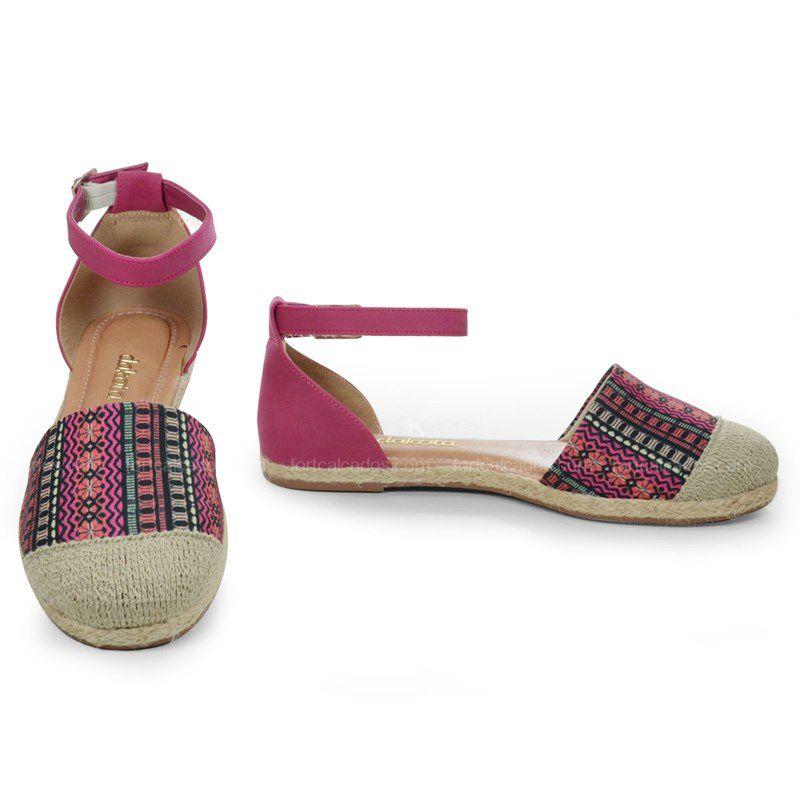 Sapato Dakota Salto Baixo Bege Multicolor Ameixa - B7361