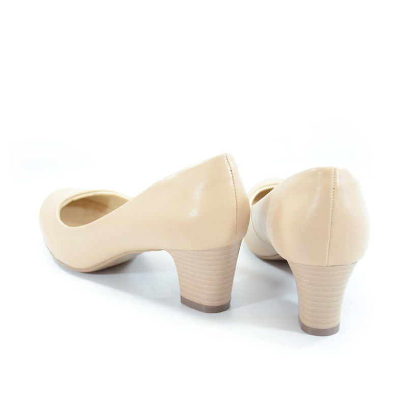 Sapato Facinelli Salto Médio Areia - 62401