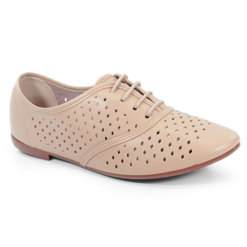 Sapato Feminino Oxford Beira Rio Bege - 4150206