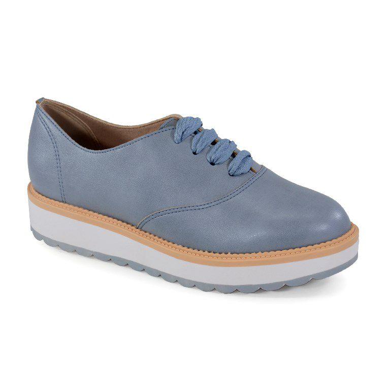 Sapato Oxford Beira Rio Napa Jeans - 4214102