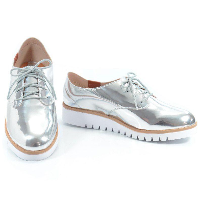 Sapato Oxford Beira Rio Prata Branco Natural - 4174101