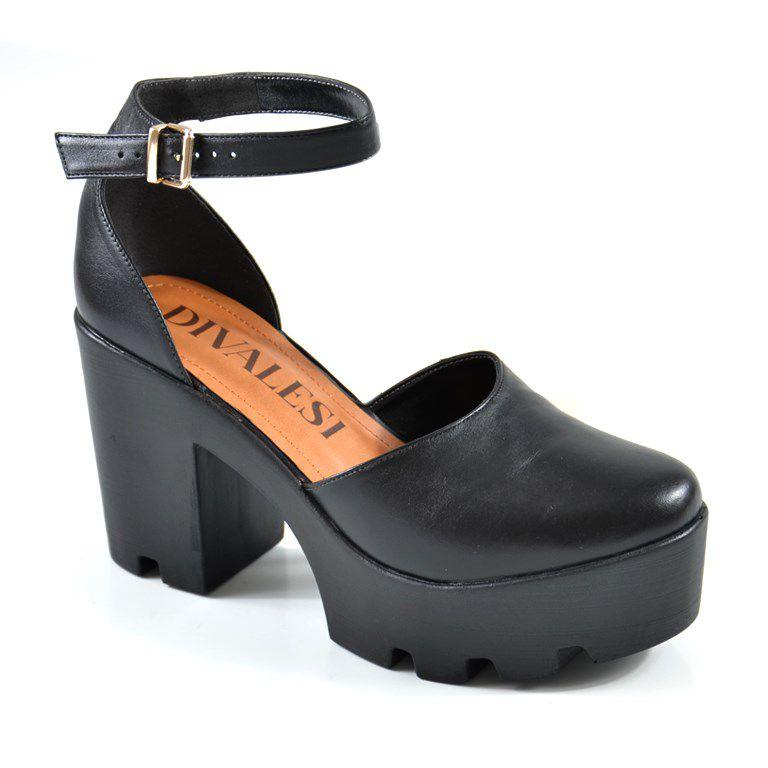 Sapato Salto Alto Divalesi Preto - 39018