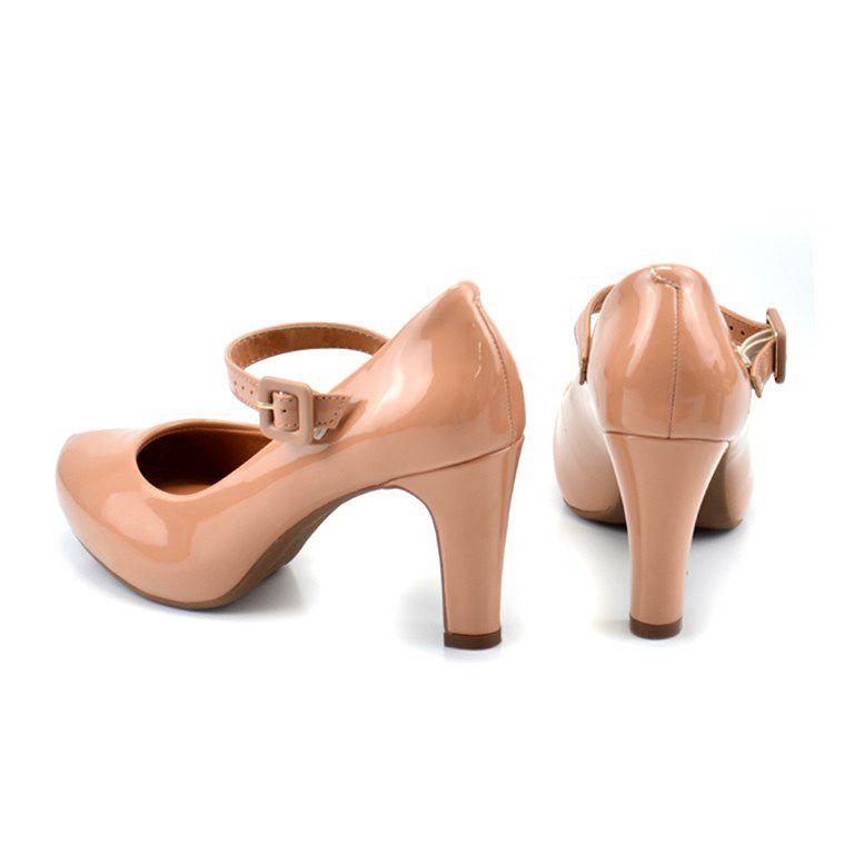Sapato Vizzano Salto Alto Verniz Nude - 1840103