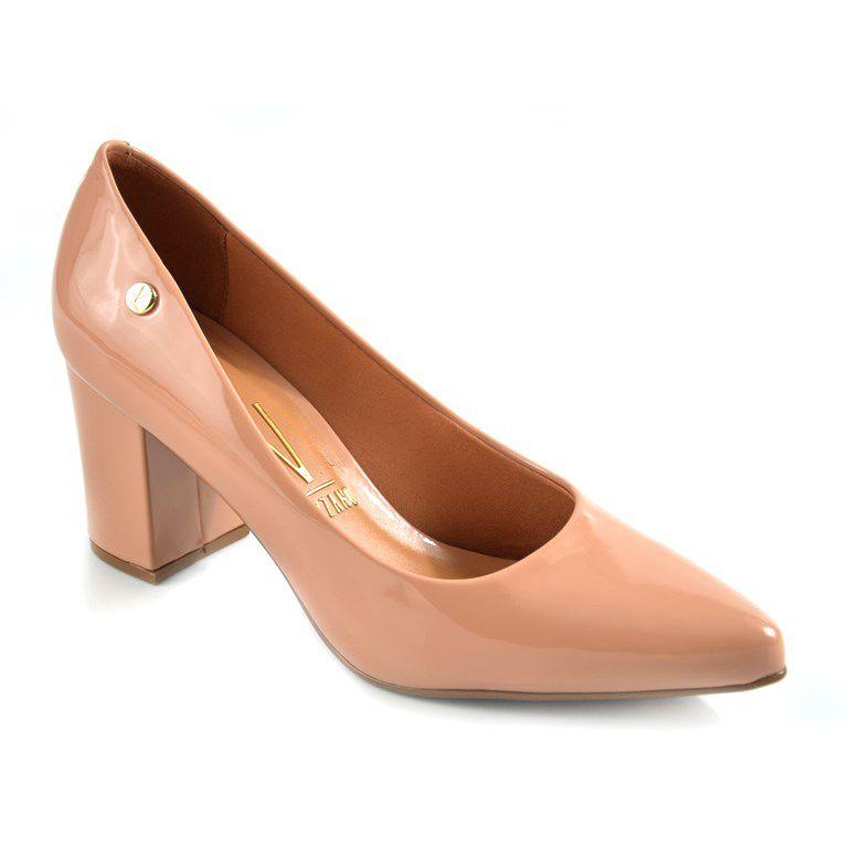 Sapato Vizzano Salto Medio Verniz Nude - 1290400