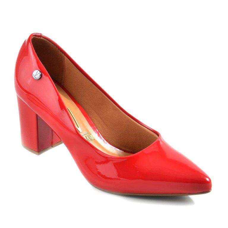 Sapato Vizzano Salto Medio Verniz Vermelho - 1290400