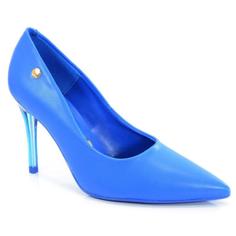 Scarpin Salto Alto Vizzano Azul Neon - 1230100