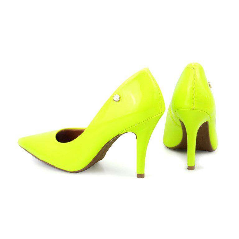 Scarpin Vizzano Salto Alto Amarelo Fluor - 1184101