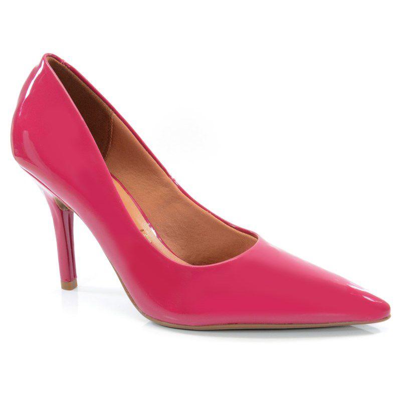 Scarpin Vizzano Salto Alto Verniz Pink - 1184113