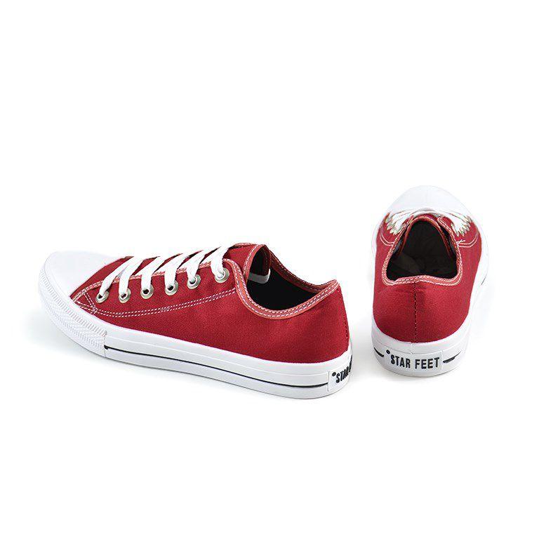 Tênis Star Feet Lona Vermelha - 3600fl