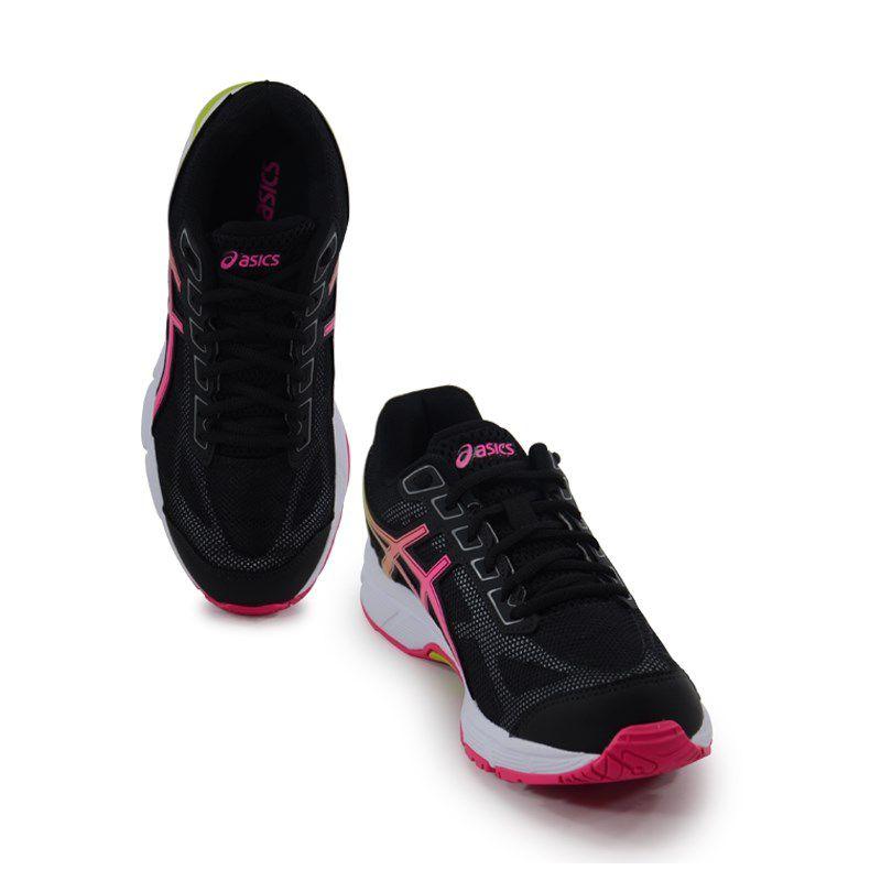 Tênis Feminino Asics Gel Impression 9a Preto Pink Lima - T071a-9019