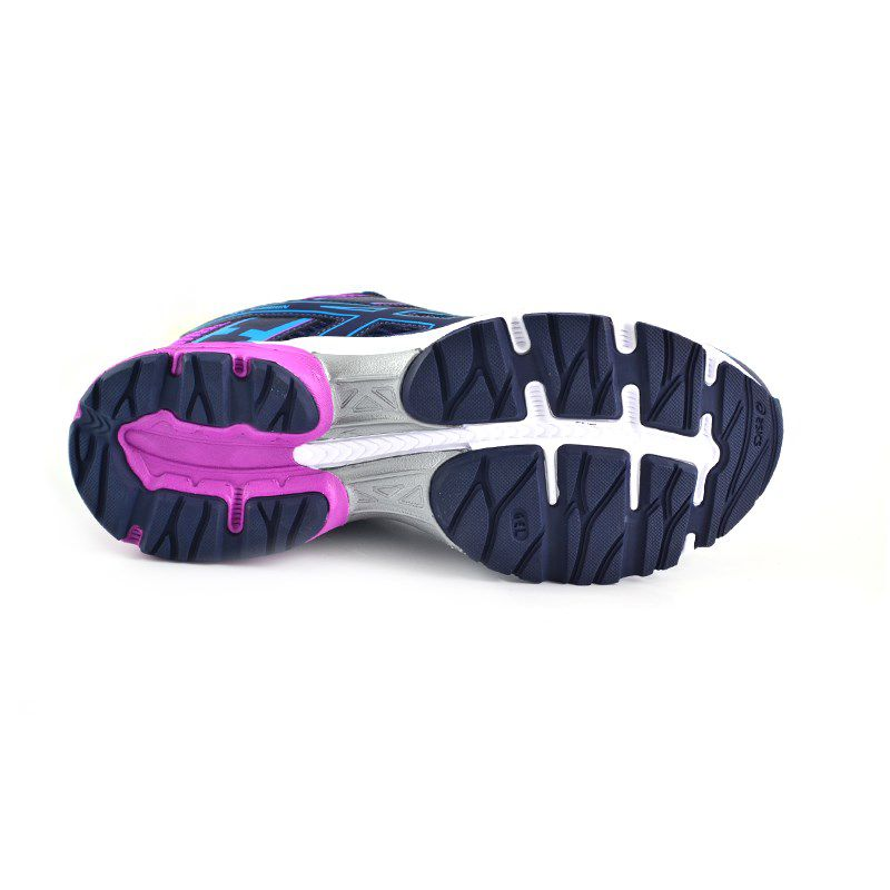 Tênis Feminino Asics Gel Shogun Azul Marinho Roxo - 1z12a007-400