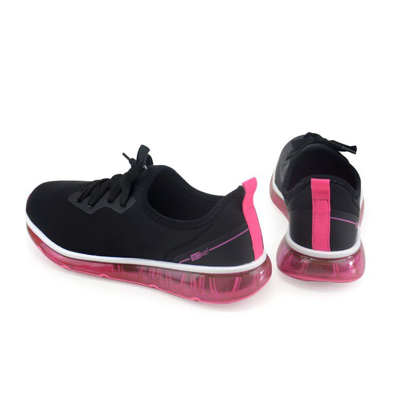 Tênis Feminino Beira Rio Preto Pink Neon - 4215101