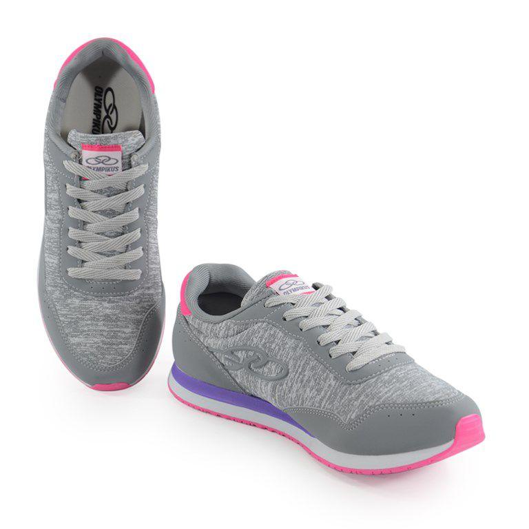 Tênis Feminino Olympikus Fancy Cinza Pink - 265