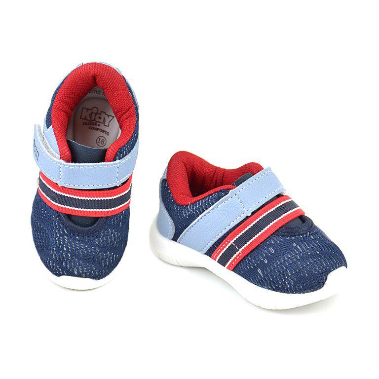 Tênis Infantil Kidy Colors Marinho Vermelho - 0081000