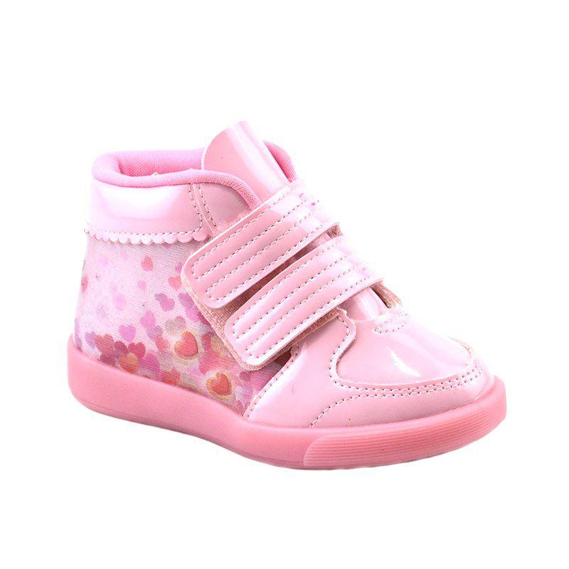 Tênis Infantil Menina Cano Alto Kidy Promoção Rosa - 059-0059-0008
