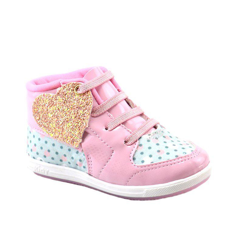 Tênis Infantil Menina Kidy Promoção Rosa - 009-0771-0008