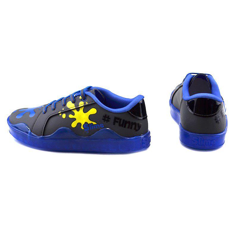 Tênis Infantil Menino Kidy Slime Grafite Azul - 0650001