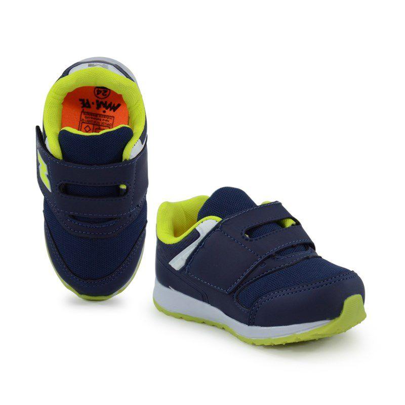 Tênis Infantil Mini Pé Azul Marinho Amarelo Limão - Mp7161
