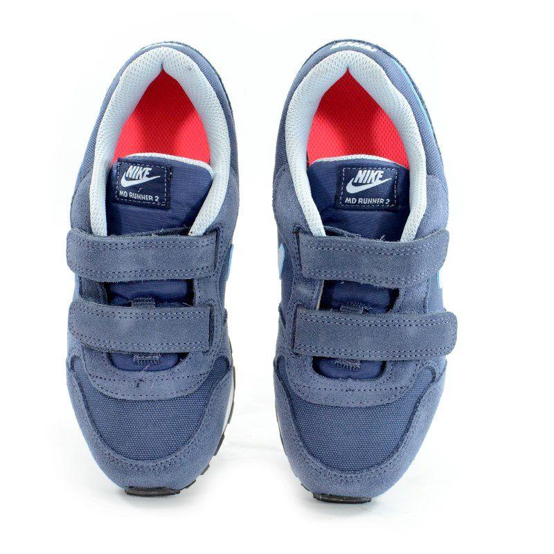 Tênis Infantil Nike Md Runner 2 Azul Jeans Coral - 807320-405