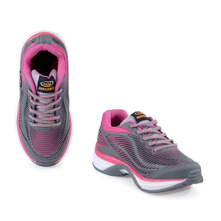Tenis Makenzi Infantil Meninas Grafite Pink-Lp12