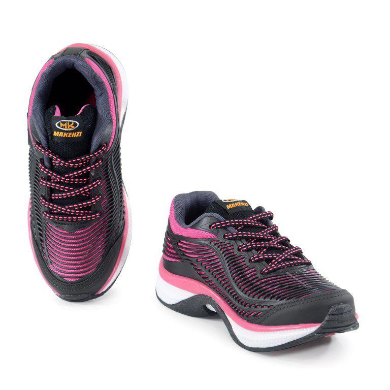 Tenis Makenzi Infantil Meninas Preto Pink-Lp12