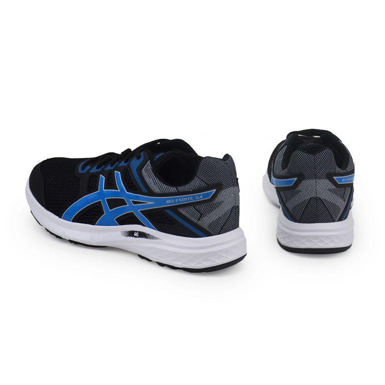 Tênis Masculino Asics Gel Excite 5a Preto Azul Cinza - 1z21a003-001