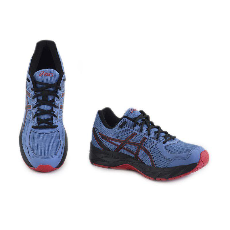 Tênis Masculino Asics Raiden Azul Preto Vermelho - 1z11a002-402