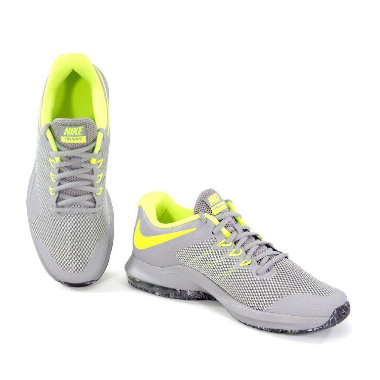 Tenis Masculino Nike Air Max Alpha Trainer Cinza Verde - Aa7060090