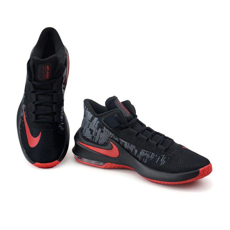 Tênis Masculino Nike Air Max Infuriate 2 Preto Vermelho - Aa7066-066