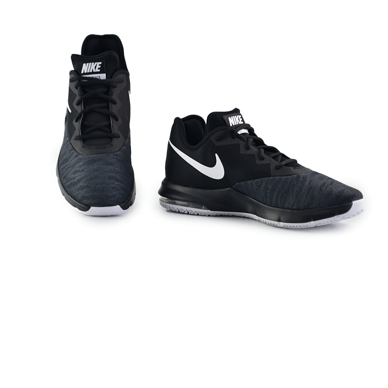 Tênis Masculino Nike Air Max Infuriate Iii Preto Branco Cinza Escuro - Aj5898-001