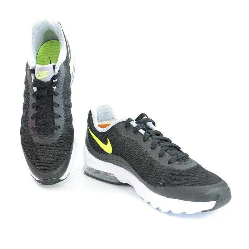 Tênis Masculino Nike Air Max Invigor Preto Verde Neon Branco - 749680-003