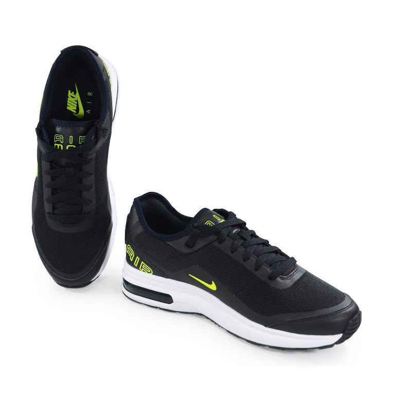 Tênis Masculino Nike Air Max Lb Preto Verde Limão - Ah7336-003