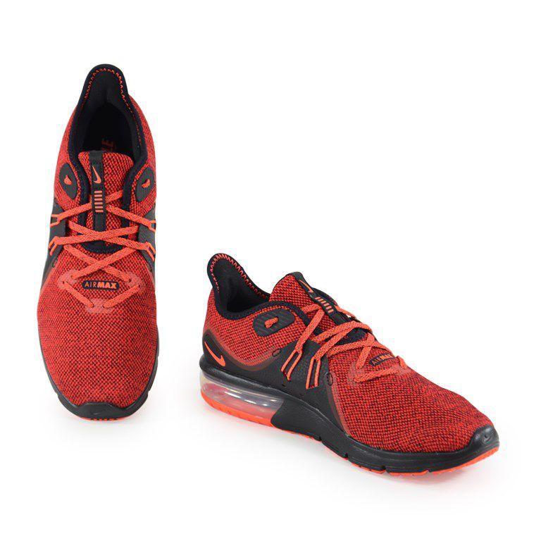 Tênis Masculino Nike Air Max Sequent 3 Vermelho Preto - 921694-066