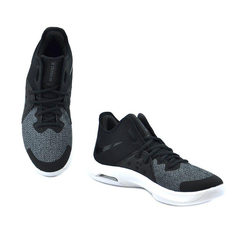 Tênis Masculino Nike Air Versitile Iii Preto Cinza Branco - Ao4430-001
