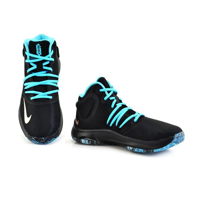 Tênis Masculino Nike Cano Alto Air Versitile Preto Azul Celeste - At1199-001