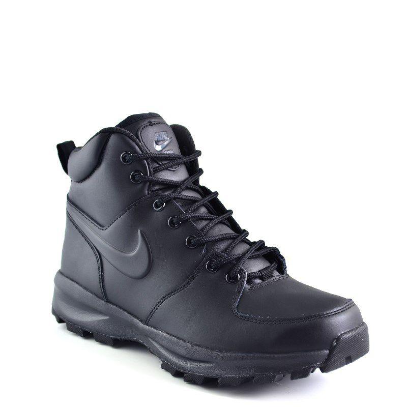 Tênis Masculino Nike Cano Alto Manoa Leather Preto - 454350-003